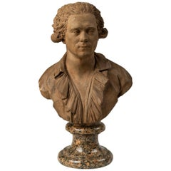 18th Century Terracotta Bust of a Man