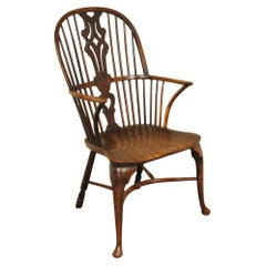 18th Century Thames Valley Yew Wood Windsor Armchair