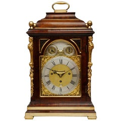 18th Century Thomas Eastland Quarter Chiming Mahogany Bracket Clock