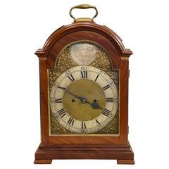 18th Century Thomas Moss, London, Fusee Bracket Clock in Mahogany Case