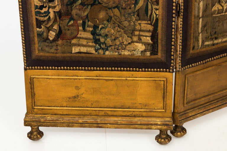 18th Century Three Panel Flemish Tapestry Screen For Sale 6
