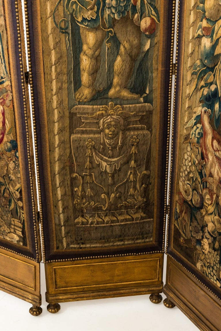 18th Century Three Panel Flemish Tapestry Screen For Sale 8
