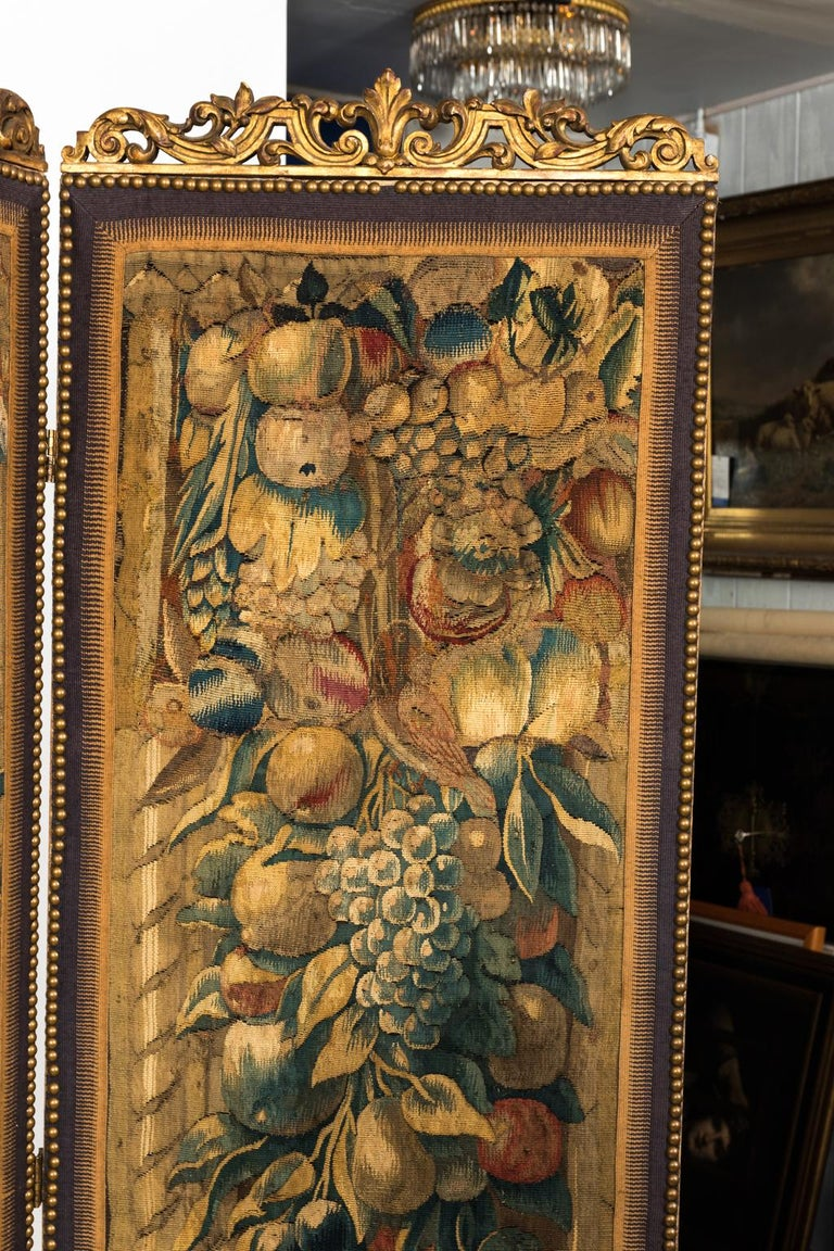 18th Century Three Panel Flemish Tapestry Screen For Sale 9