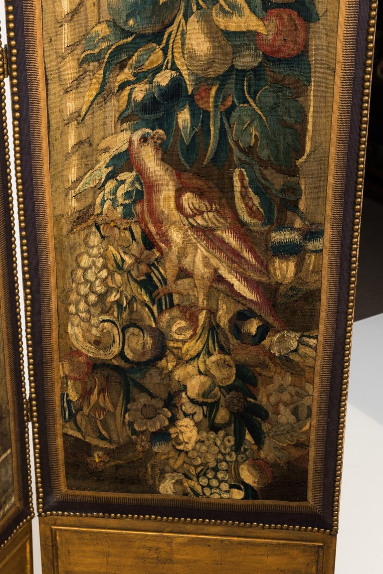 18th Century Three Panel Flemish Tapestry Screen For Sale 10