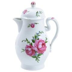 18th Century Thuringia Wallendorf Porcelain Teapot