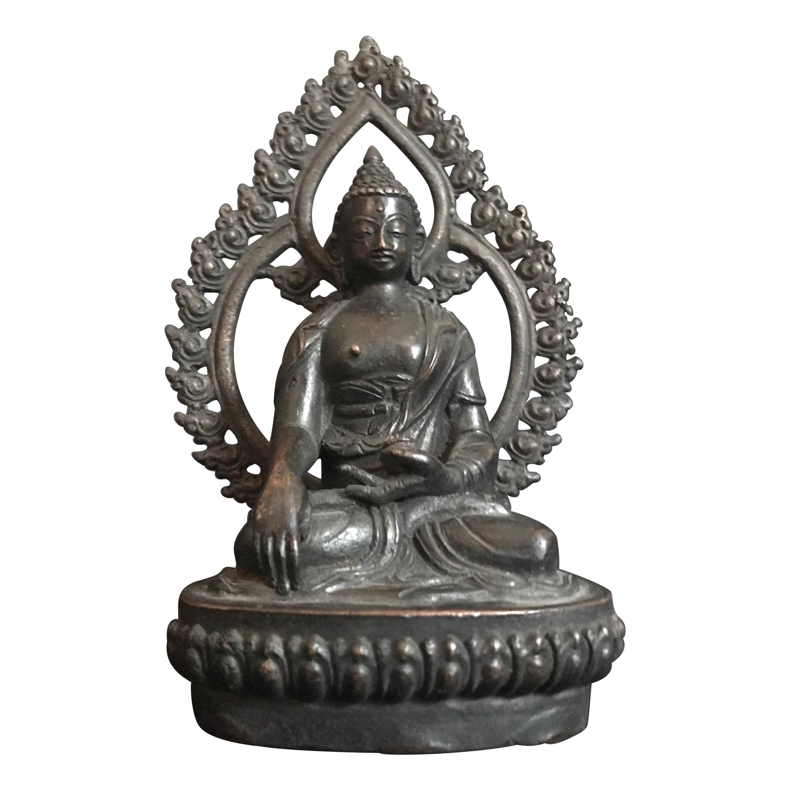 18th Century Tibetan Bronze Shakyamuni Buddha