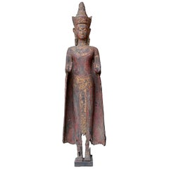 18th Century Tibetan Carved Wood Buddha