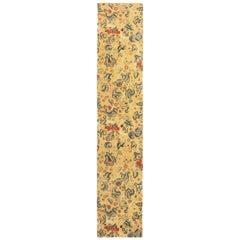 18th Century Tudor Design Inspired Cream Floral Runner
