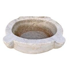 18th Century Turkish Hammam Marble Sink