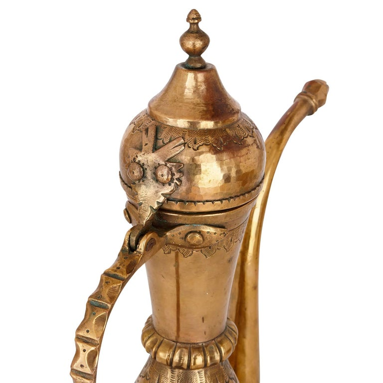 18th Century and Earlier 18th Century Turkish Tombak Ewer and Basin For Sale