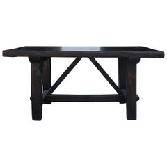 18th Century, Tuscan Kitchen Table in Walnut Wood