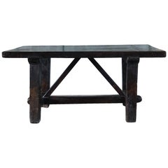 18th Century Tuscan Walnut Kitchen Table, Italian Farm Table