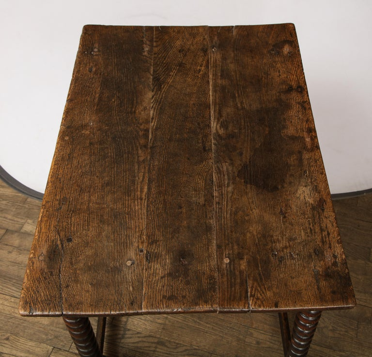18th Century Twisted Leg Table For Sale 1