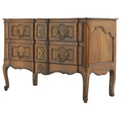 18th Century Two-Drawer Walnut Commode