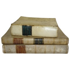 18th Century Vellum Books in a Collection of Three