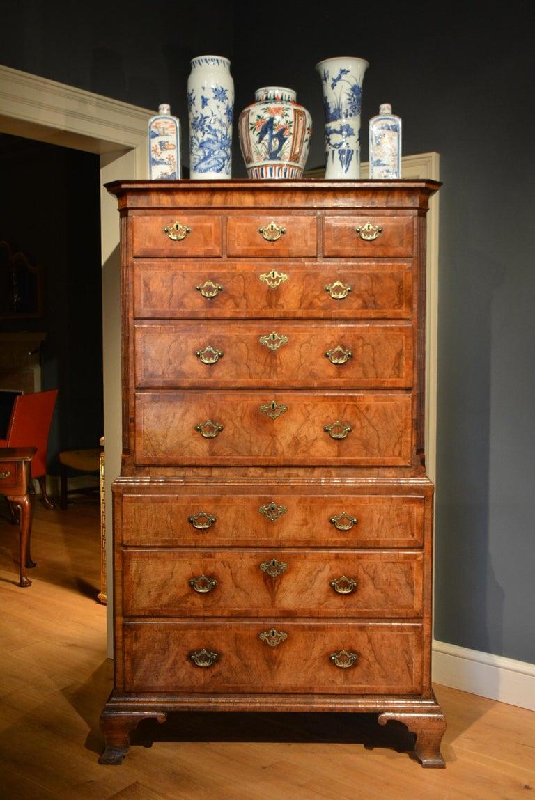 18th Century Veneered Walnut Tallboy 3