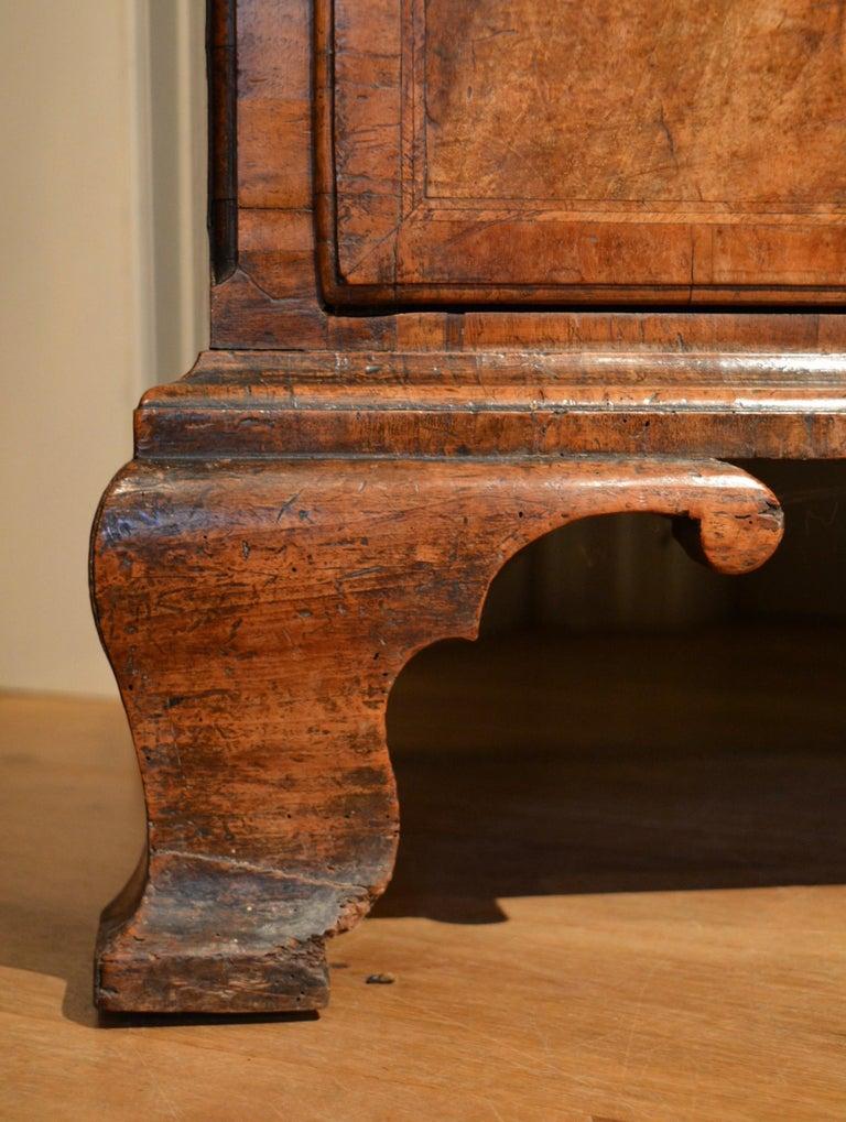 18th Century Veneered Walnut Tallboy 4