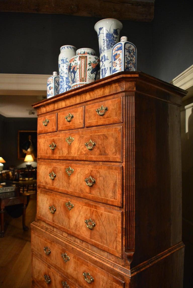 18th Century Veneered Walnut Tallboy 6