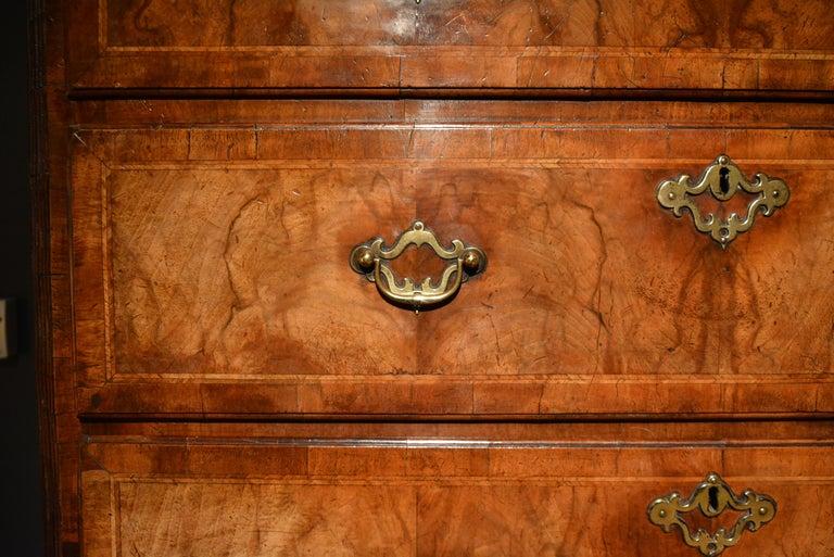 18th Century Veneered Walnut Tallboy 9