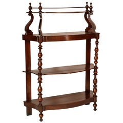 18th Century Venetian Baroque Étagère, Massive Walnut Restored and Wax Polished