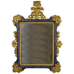 18th Century Venetian Baroque Gilt and Lacquered Wood Mirror