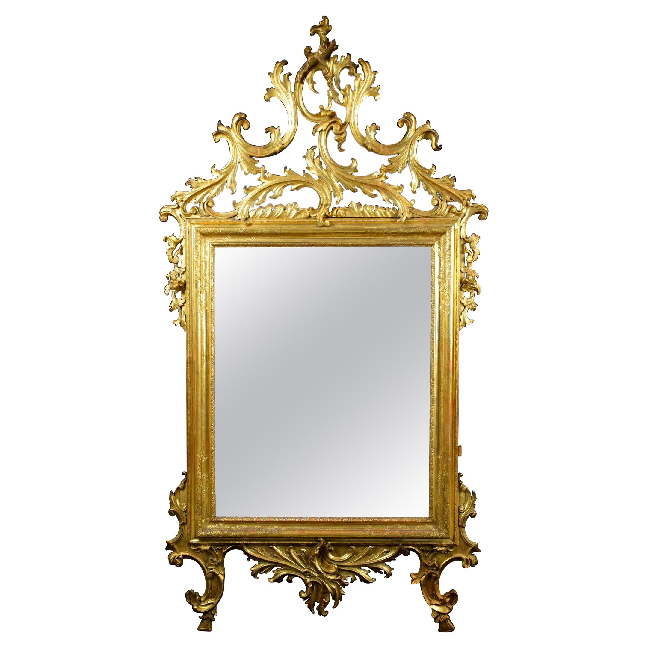 18th Century Venetian Carved and Giltwood Mirror