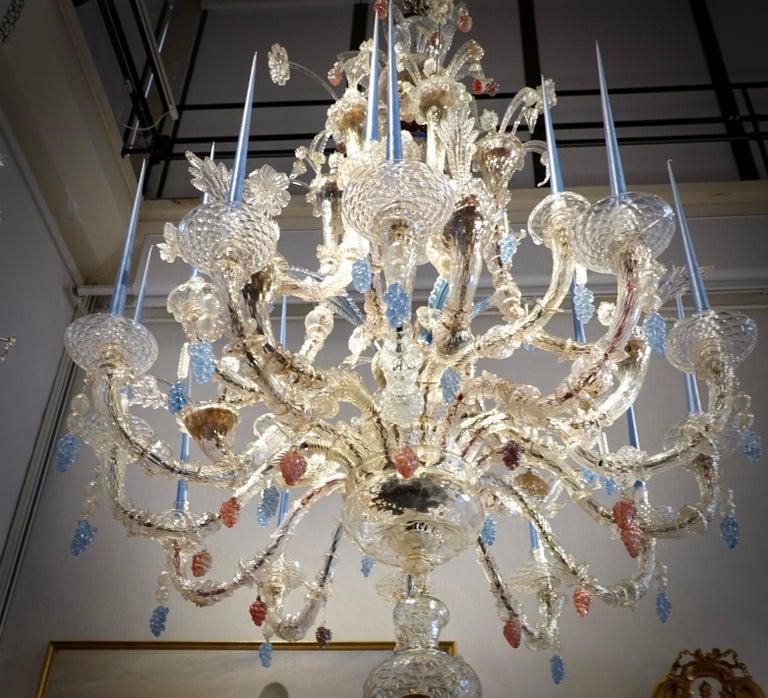 Italian 18th Century Venetian Chandelier of Impressive Proportions For Sale