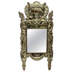 18th Century Venetian Mirror in Silver Leaf