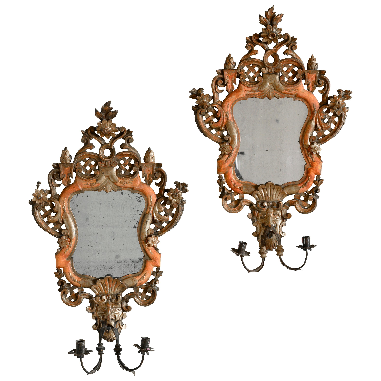 18th Century Venetian Mirror Sconces