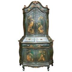 18th Century Venetian Rococo Lacquer Cabinet