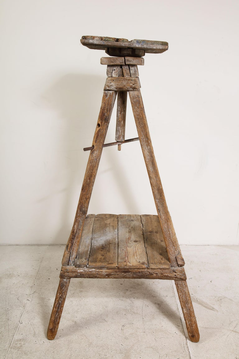 18th Century Venetian Wood Sculpture Stand For Sale 13