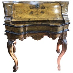 18th Century Venezia Louis XV Walnut Bureau Secretaire, 1750s