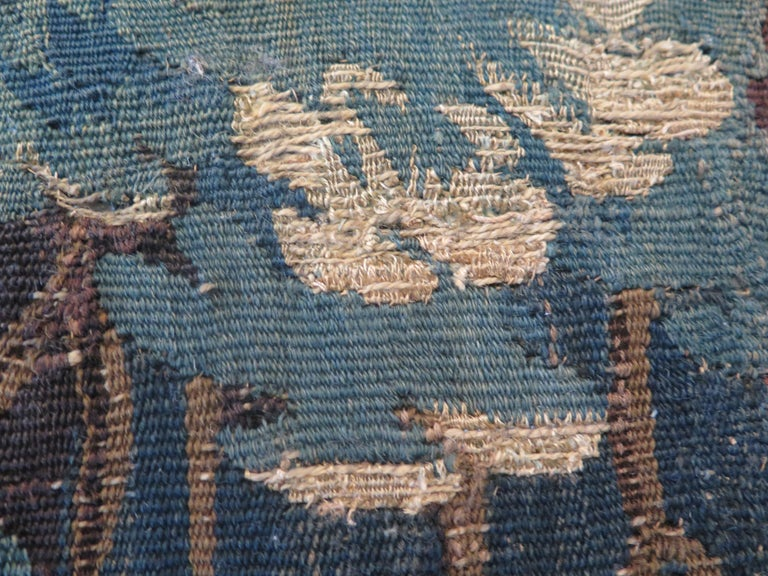 18th Century Verdure Tapestry Pillow For Sale 1