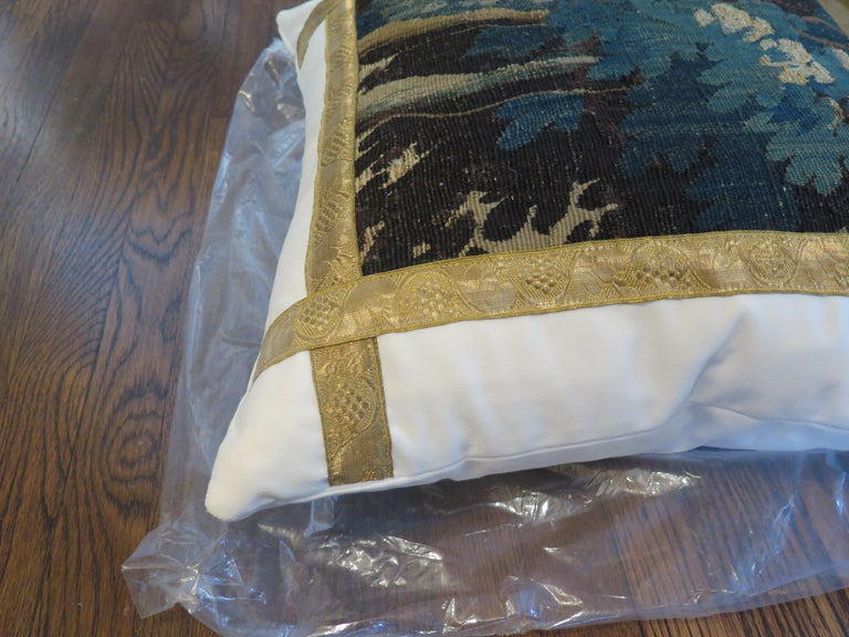 18th Century Verdure Tapestry Pillow For Sale 2