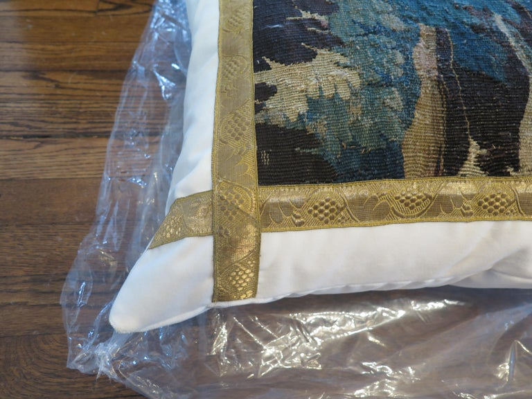 18th Century Verdure Tapestry Pillow For Sale 3