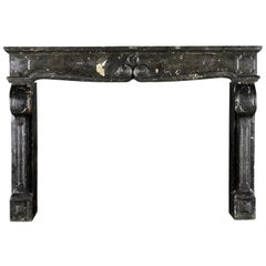 18th Century Vintage Fine European French Country Fireplace Surround