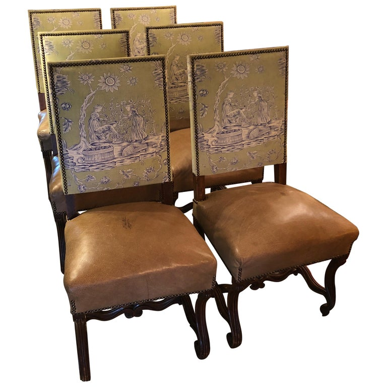 Vintage Louis Xiv Style Dining Chairs