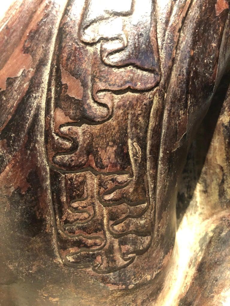 Lacquered 18th Century, Virasana Buddhain Bhumisparsa Mudra, Mandalay Period, Burma For Sale