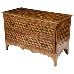 18th Century Walnut and Fruitwood Parquetry Commode