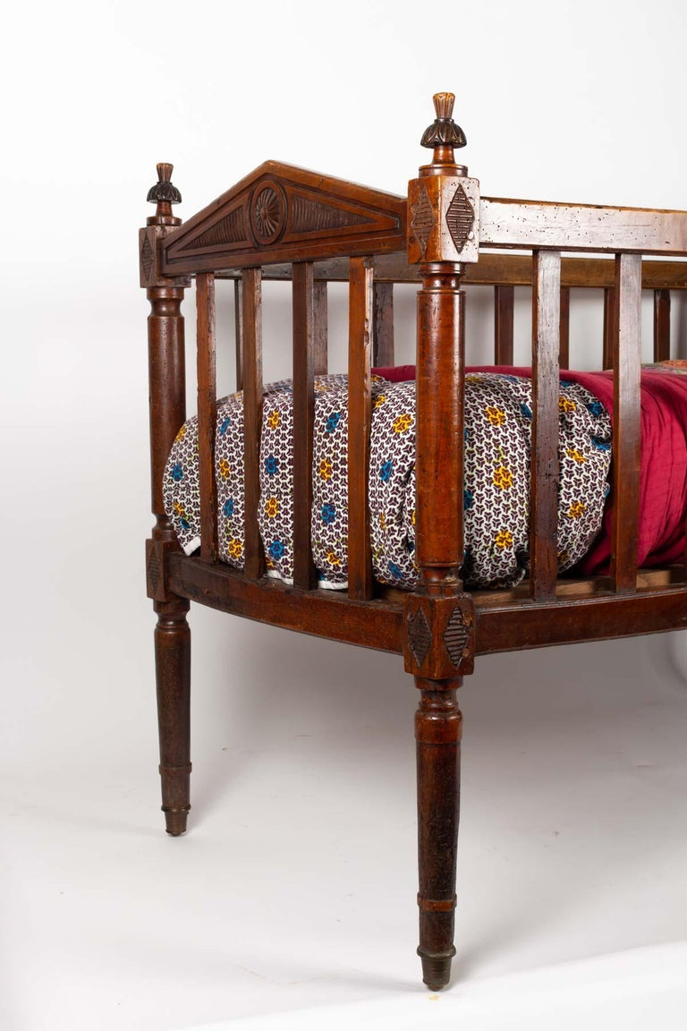 French 18th Century Walnut Baby Bed For Sale