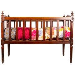 18th Century Walnut Baby Bed
