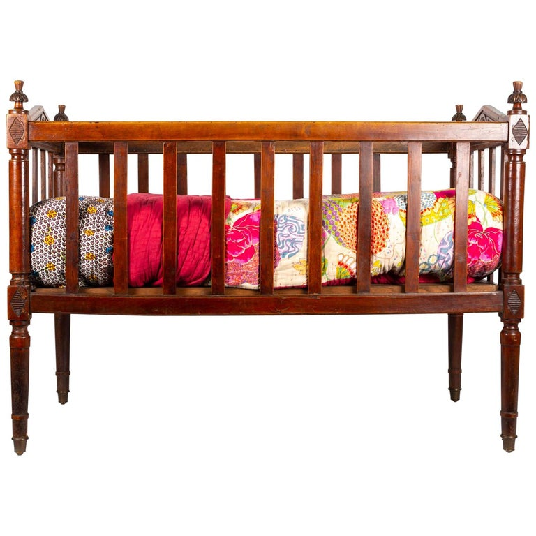 18th Century Walnut Baby Bed For Sale