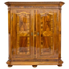 18th Century Walnut Baroque Wardrobe