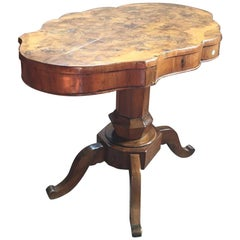 18th Century Walnut Briar Root Oval Table