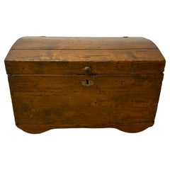18th Century Walnut Dome Top Peasants Trunk