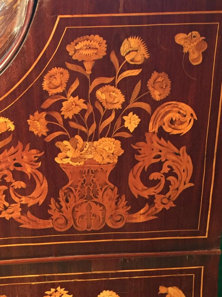 18th Century Walnut Inlaid Dutch Bureau Secrétaire For Sale 3