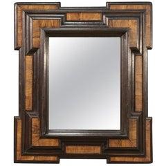18th Century Walnut Wood Italian Mirror, 1730