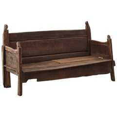 18th Century Weathered Galician Bench, Spain