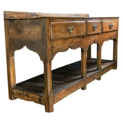 18th Century Welsh Oak Pot Board Dresser Server