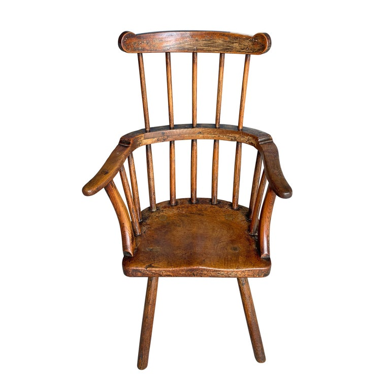 Rustic 18th Century Welsh Stick Chair For Sale